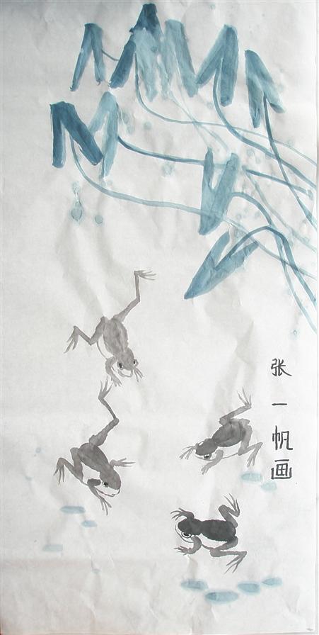 秀秀儿子暑期的绘画新作 - 深秋 - 深秋的故事的博客