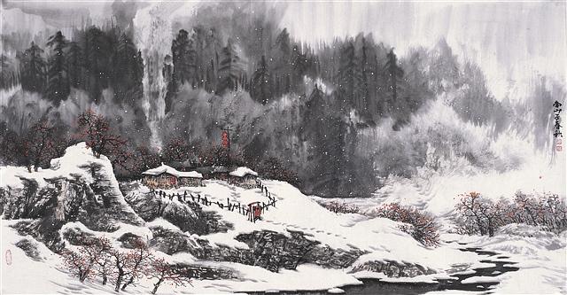 山村雪景 - 深秋 - 深秋的故事的博客